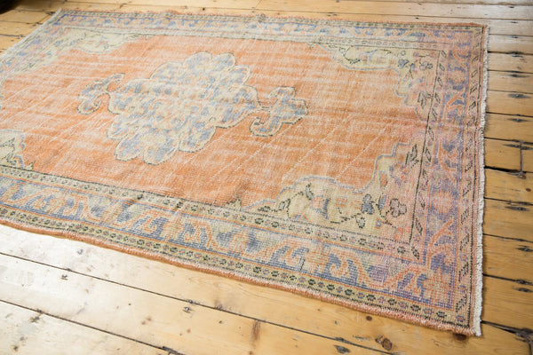 Vintage Distressed Oushak Rug / Item 5494 image 4