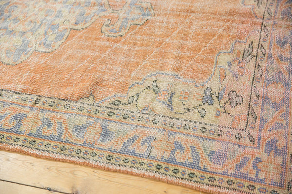 Vintage Distressed Oushak Rug / Item 5494 image 5
