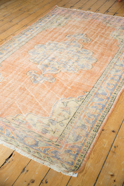 Vintage Distressed Oushak Rug / Item 5494 image 8