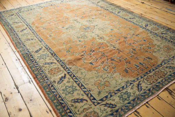Vintage Distressed Oushak Carpet / Item 5499 image 2