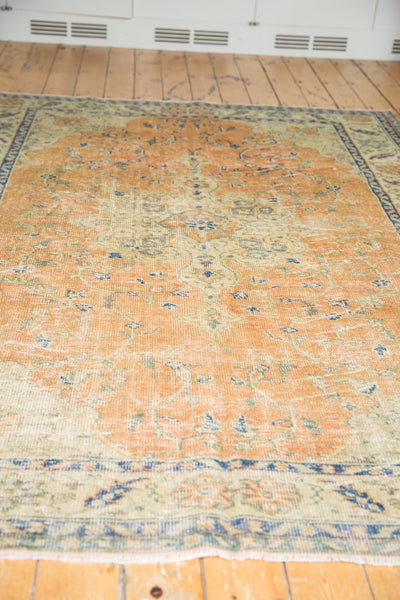Vintage Distressed Oushak Carpet / Item 5499 image 4
