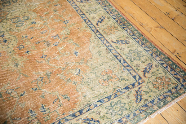 Vintage Distressed Oushak Carpet / Item 5499 image 6