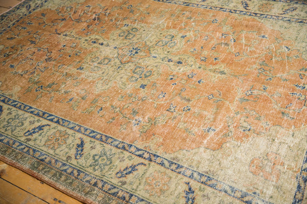 Vintage Distressed Oushak Carpet / Item 5499 image 7