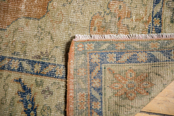 Vintage Distressed Oushak Carpet / Item 5499 image 8