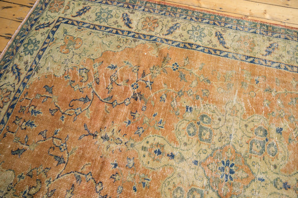 Vintage Distressed Oushak Carpet / Item 5499 image 9