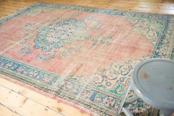 Vintage Distressed Oushak Carpet / Item 5508 image 3