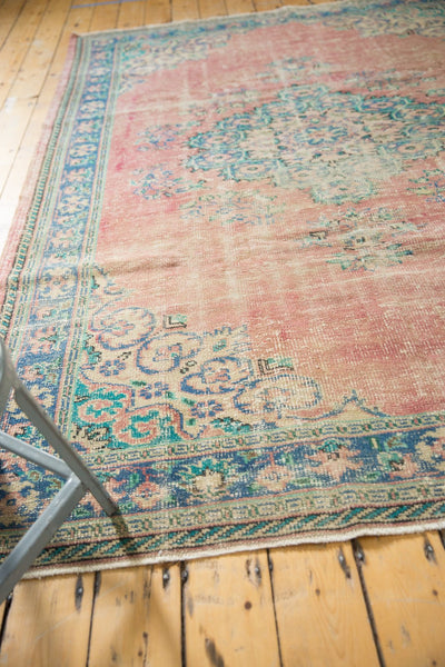 Vintage Distressed Oushak Carpet / Item 5508 image 4