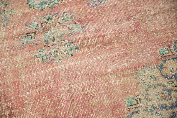 Vintage Distressed Oushak Carpet / Item 5508 image 5