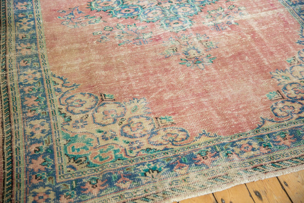 Vintage Distressed Oushak Carpet / Item 5508 image 8