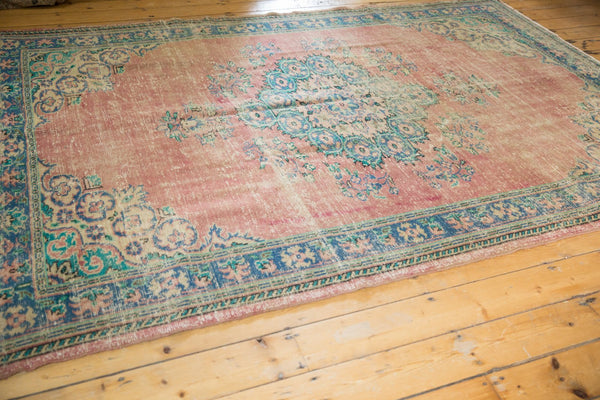 Vintage Distressed Oushak Carpet / Item 5508 image 10