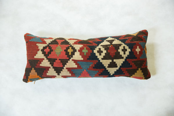 Antique Kilim Rug Fragment Lumbar Pillow