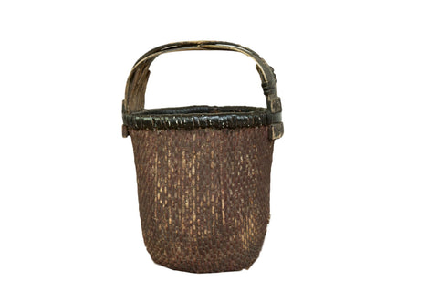 Black Chinese Willow Basket