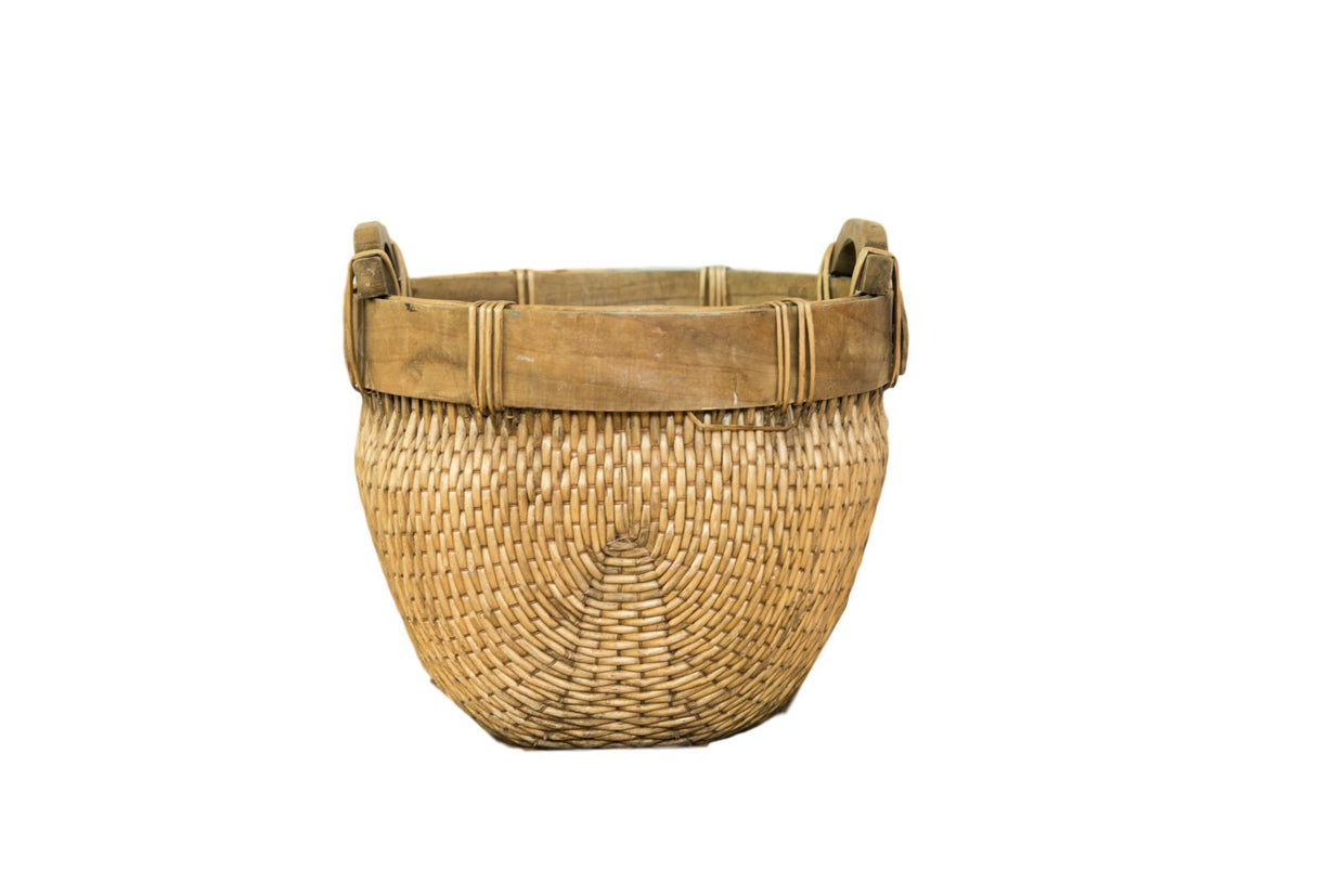 Natural Vintage Willow Basket