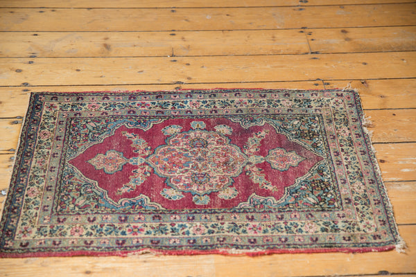 Antique Kerman Rug Mat / Item 5551 image 7