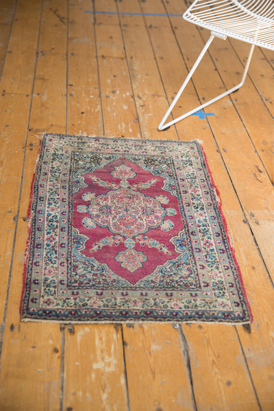 Antique Kerman Rug Mat / Item 5551 image 6