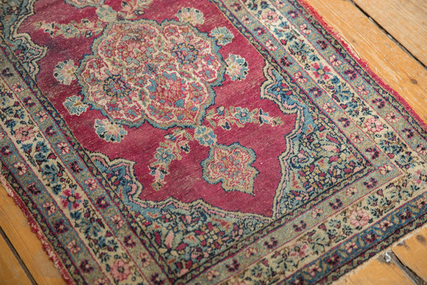 Antique Kerman Rug Mat / Item 5551 image 5