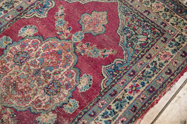Antique Kerman Rug Mat / Item 5551 image 3