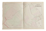 Antique Woburn Massachusetts Atlas Map Plate M