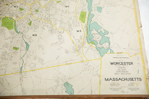Massachusetts Pull Down School Map