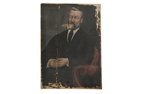 19th Century Portrait Painting of a Man