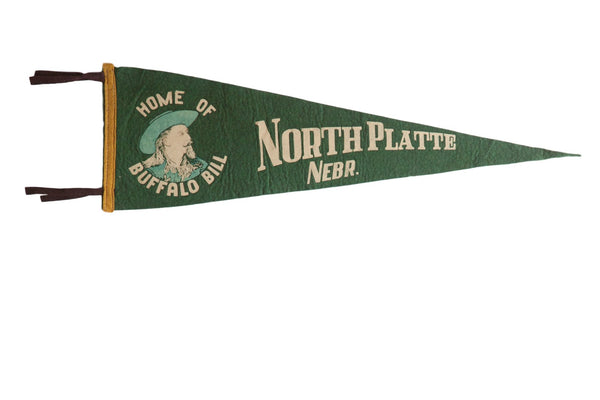 North Platte Nebr. Home of Buffalo Bill Felt Flag