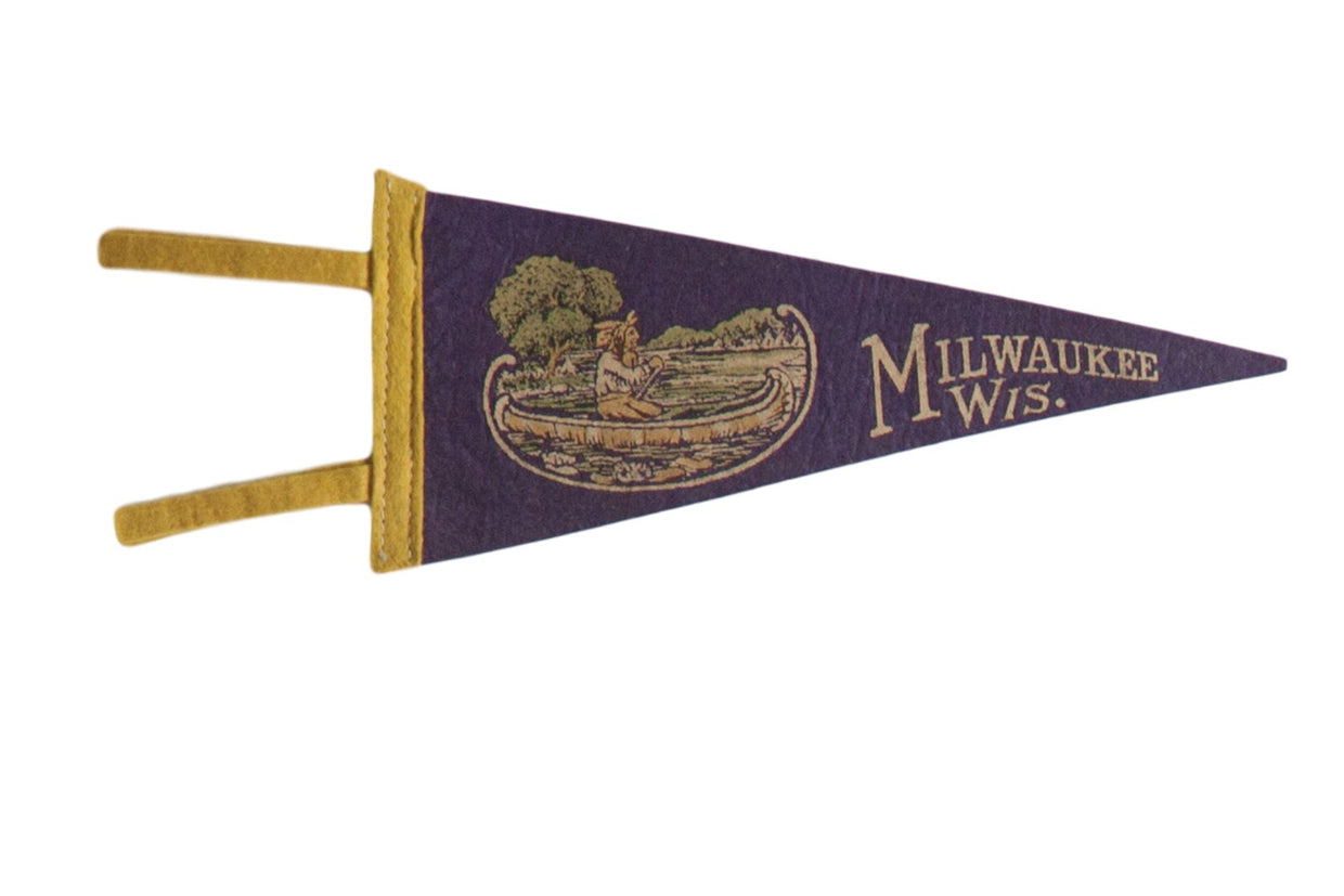 Milwaukee Wis. Felt Flag