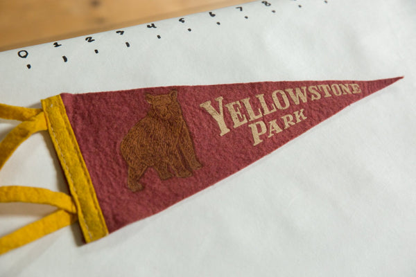 Yellowstone Park Felt Flag
