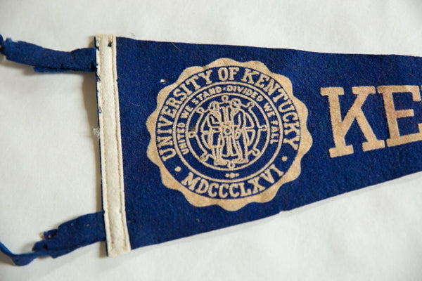 Kentucky (University of Kentucky MDCCCLXVI) Felt Flag