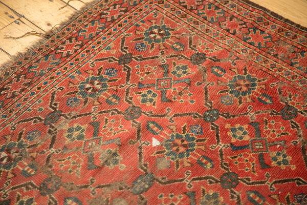 Antique Tattered Beshir Carpet
