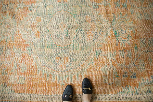 Vintage Distressed Oushak Carpet / Item 5994 image 2