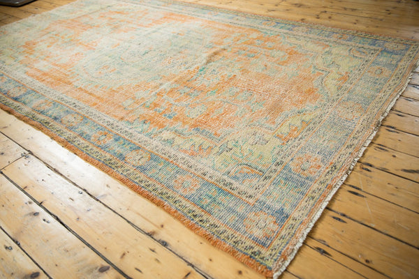 Vintage Distressed Oushak Carpet / Item 5994 image 3
