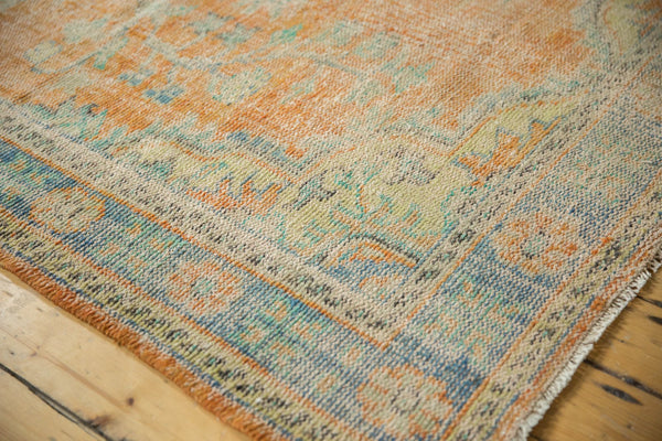 Vintage Distressed Oushak Carpet / Item 5994 image 4