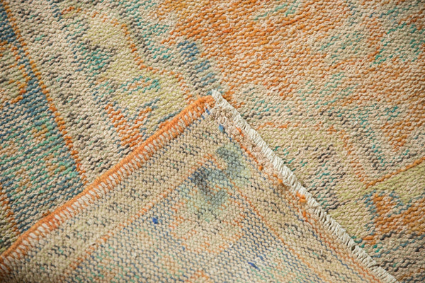 Vintage Distressed Oushak Carpet / Item 5994 image 6