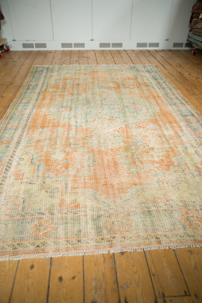 Vintage Distressed Oushak Carpet / Item 5994 image 8