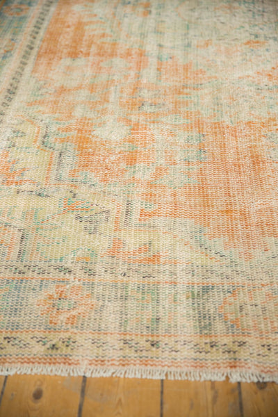Vintage Distressed Oushak Carpet / Item 5994 image 9