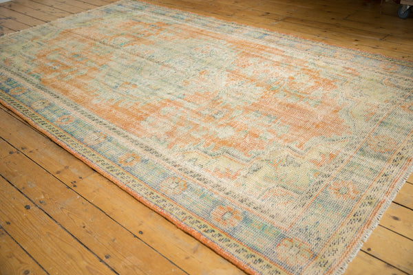 Vintage Distressed Oushak Carpet / Item 5994 image 10