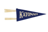 Katonah NY Mini Royal Felt Pennant