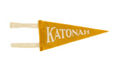 Katonah NY Mini Old Gold Felt Pennant