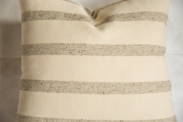 24x24 Remnant Stripe Wool Fabric Pillow