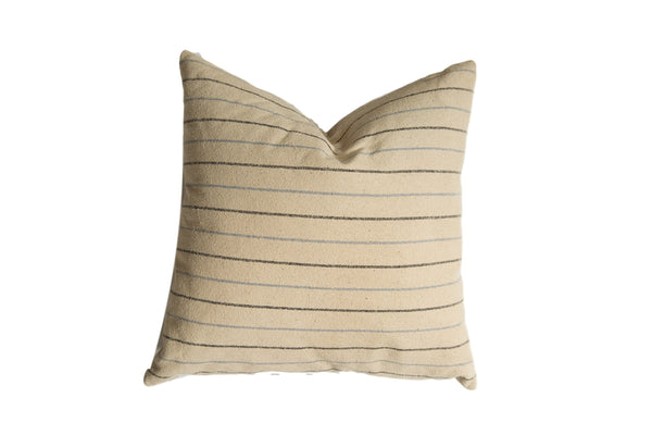 20x20 Remnant Stripe Silk Fabric Throw Pillow