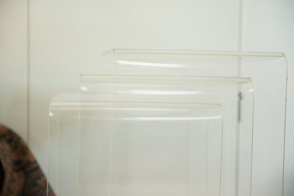 Vintage Lucite Nesting Tables Set of Three