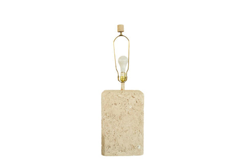 Vintage 1970s Faux Travertine Table Lamp // ONH Item 6036