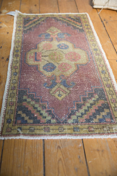Vintage Distressed Oushak Rug Mat Runner / Item 6144 image 3