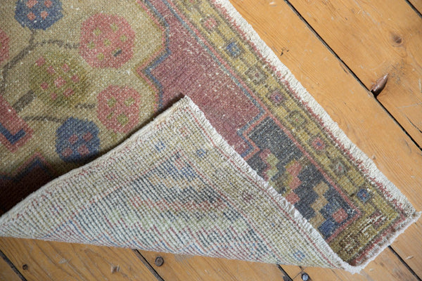 Vintage Distressed Oushak Rug Mat Runner / Item 6144 image 4
