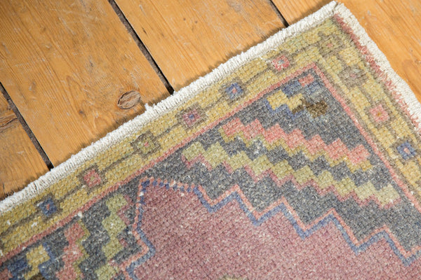 Vintage Distressed Oushak Rug Mat Runner / Item 6144 image 5