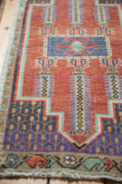Vintage Distressed Oushak Rug Mat Runner / Item 6156 image 5