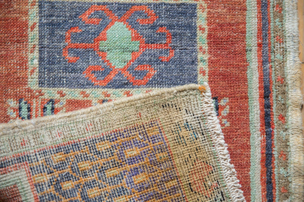 Vintage Distressed Oushak Rug Mat Runner / Item 6156 image 6