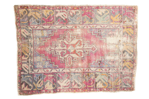 2.5x3.5 Vintage Distressed Oushak Rug // ONH Item 6200