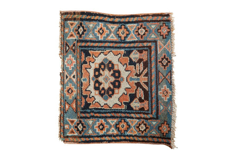 1.5x2 Antique Bagface Kurdish Square Rug Mat // ONH Item 6223