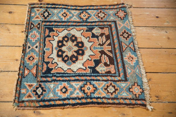 Antique Bagface Kurdish Square Rug Mat / Item 6223 image 3